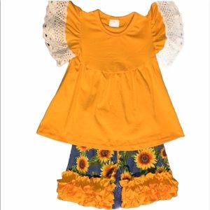 Sunflower Shorts & Top Size 5 NEW